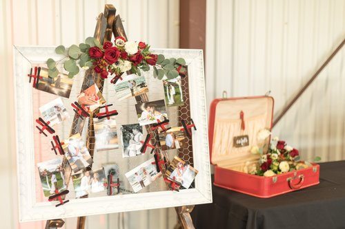 wedding reception photo board